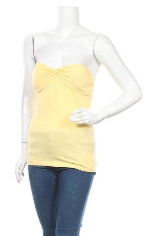 Дамски потник One Love, Размер M, Цвят Жълт, 95% памук, 5% еластан, Цена 3,00лв.