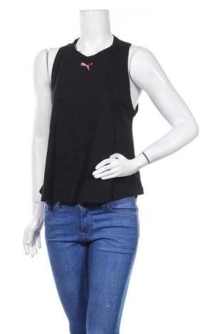 Γυναικείο αμάνικο μπλουζάκι PUMA, Μέγεθος S, Χρώμα Μαύρο, Βαμβάκι, Τιμή 22,81€
