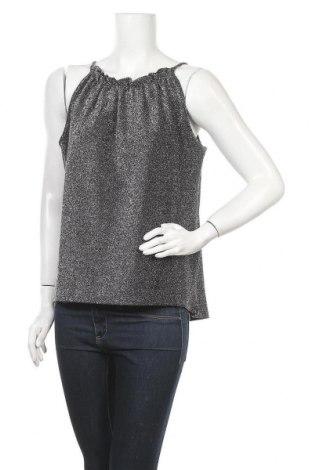 Γυναικείο αμάνικο μπλουζάκι Pieces, Μέγεθος XL, Χρώμα Μαύρο, 69% πολυεστέρας, 25% μεταλλικά νήματα, 6% ελαστάνη, Τιμή 4,69€