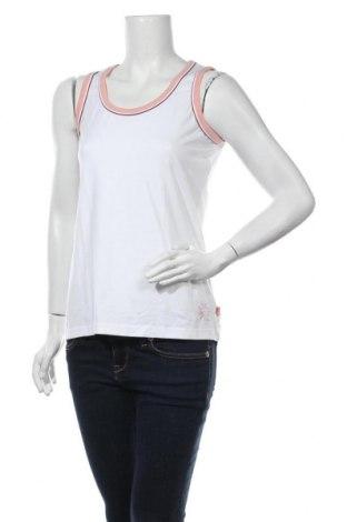 Γυναικείο αμάνικο μπλουζάκι TCM, Μέγεθος L, Χρώμα Λευκό, 46% βαμβάκι, 46% μοντάλ, 8% ελαστάνη, Τιμή 9,09€