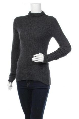 Дамски пуловер American Vintage, Размер S, Цвят Сив, 48% полиамид, 32% вълна, 16% акрил, 4% еластан, Цена 56,62лв.