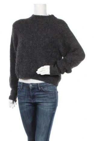 Дамски пуловер American Vintage, Размер S, Цвят Сив, 35% акрил, 31% вълна от алпака, 22% полиамид, 11% вълна, 1% еластан, Цена 60,42лв.