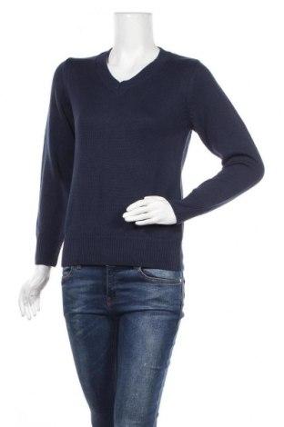 Дамски пуловер Collection L, Размер S, Цвят Син, 50% памук, 50% полиакрил, Цена 28,00лв.