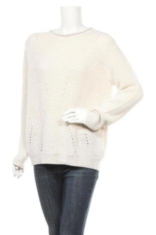 Дамски пуловер Comma,, Размер L, Цвят Екрю, 45% полиакрил, 45% вълна, 6% полиестер, 4% метални нишки, Цена 129,00лв.