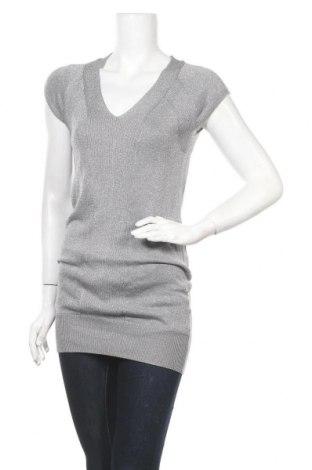 Дамски пуловер Crazy World, Размер S, Цвят Сив, 75% вискоза, 25% метални нишки, Цена 6,76лв.