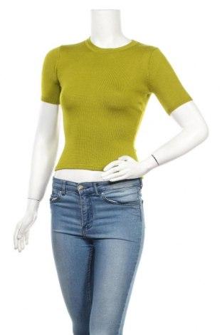 Дамски пуловер DKNY, Размер S, Цвят Зелен, Вълна, Цена 50,25лв.
