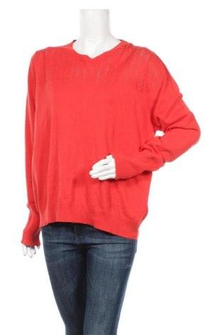 Дамски пуловер Essential by Noa Noa, Размер XXL, Цвят Червен, Памук, Цена 81,75лв.