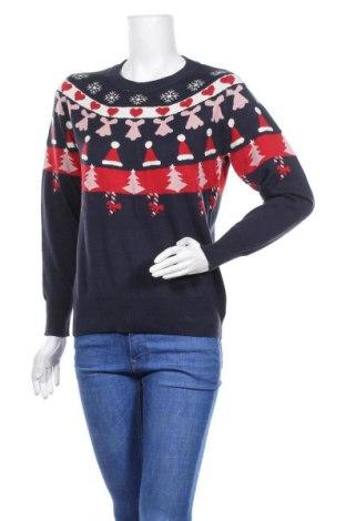 Дамски пуловер Free Quent, Размер S, Цвят Син, 50% памук, 50% акрил, Цена 23,60лв.