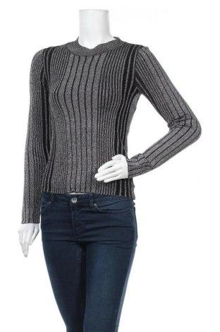 Дамски пуловер Grunt, Размер L, Цвят Черен, 74% вискоза, 19% полиамид, 7% метални нишки, Цена 20,80лв.