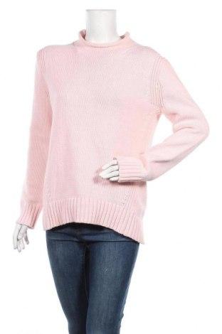 Дамски пуловер J.Crew, Размер M, Цвят Розов, 72% памук, 28% полиамид, Цена 44,08лв.