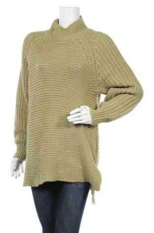 Дамски пуловер MSCH, Размер M, Цвят Зелен, 40% акрил, 60% памук, Цена 72,00лв.