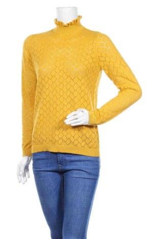 Дамски пуловер ONLY, Размер XS, Цвят Жълт, Памук, Цена 40,50лв.
