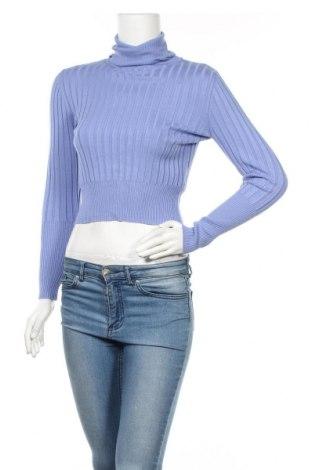 Дамски пуловер Zara, Размер L, Цвят Син, 72% вискоза, 28% полиамид, Цена 24,50лв.