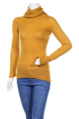 Дамски пуловер Zara, Размер S, Цвят Жълт, Цена 42,00лв.