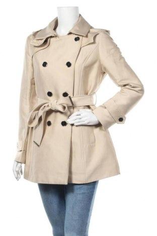 Дамски шлифер Morgan, Размер L, Цвят Бежов, 48% памук, 47% полиестер, 5% полиамид, Цена 51,60лв.