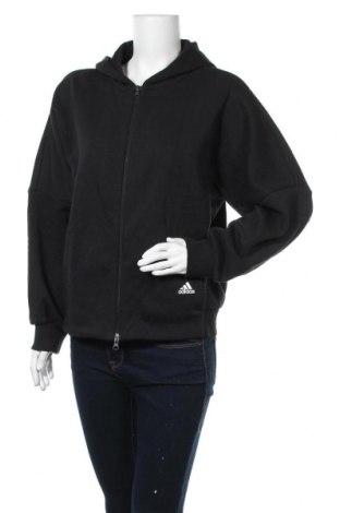 Γυναικείο φούτερ Adidas, Μέγεθος S, Χρώμα Μαύρο, 77% βαμβάκι, 23% πολυεστέρας, Τιμή 33,74€