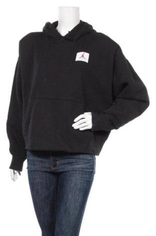Γυναικείο φούτερ Air Jordan Nike, Μέγεθος XL, Χρώμα Μαύρο, 98% βαμβάκι, 2% ελαστάνη, Τιμή 46,01€