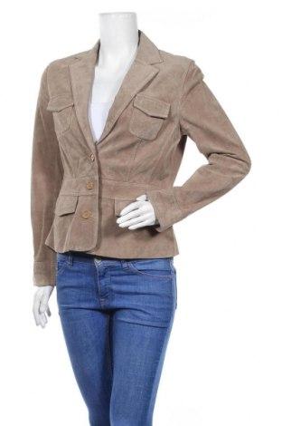 Дамско кожено сако Jones, Размер M, Цвят Бежов, Естествена кожа, Цена 70,85лв.