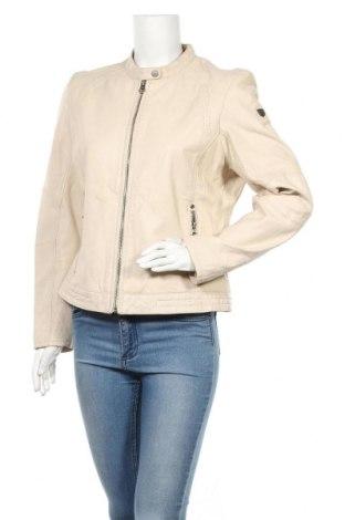 Γυναικείο δερμάτινο μπουφάν Gipsy By Mauritius, Μέγεθος XL, Χρώμα  Μπέζ, Γνήσιο δέρμα, Τιμή 128,99€
