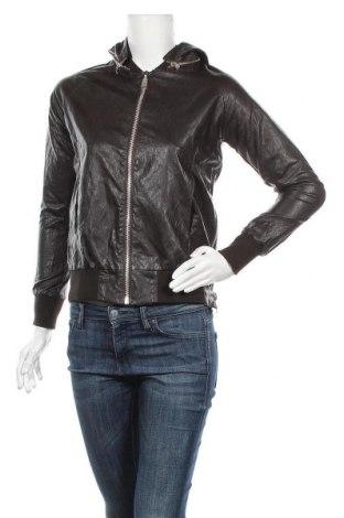 Дамско кожено яке Please, Размер M, Цвят Кафяв, Еко кожа, Цена 72,67лв.