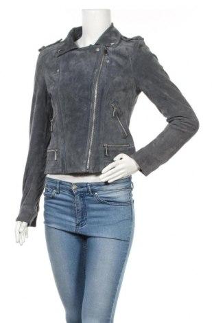 Γυναικείο δερμάτινο μπουφάν Vero Moda, Μέγεθος M, Χρώμα Μπλέ, Φυσικό σουέτ, Τιμή 59,51€