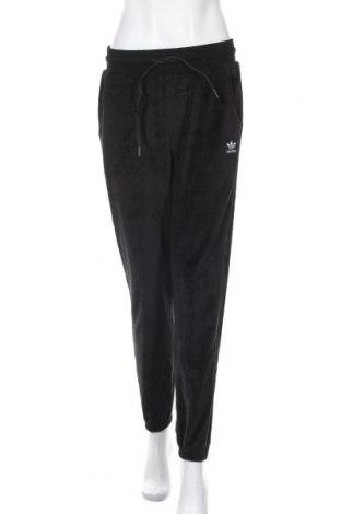Дамско спортно долнище Adidas Originals, Размер M, Цвят Черен, 79% памук, 21% полиестер, Цена 72,27лв.