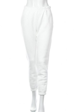 Дамско спортно долнище Gina Tricot, Размер S, Цвят Бял, 70% памук, 30% полиестер, Цена 33,00лв.