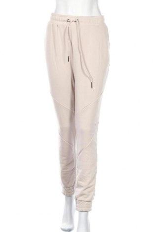 Γυναικείο αθλητικό παντελόνι Noisy May, Μέγεθος L, Χρώμα  Μπέζ, 65% πολυεστέρας, 35% βαμβάκι, Τιμή 14,74€