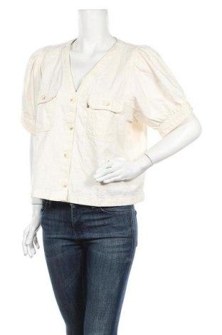 Дамско яке Levi's, Размер XL, Цвят Бежов, 59% лиосел, 41% памук, Цена 43,24лв.