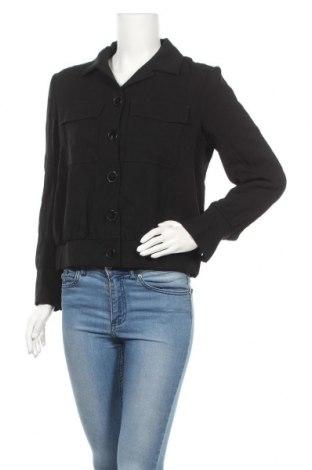 Дамско яке Massimo Dutti, Размер L, Цвят Черен, Вискоза, Цена 30,16лв.