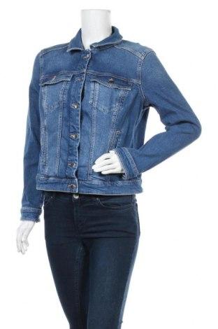 Γυναικείο μπουφάν Q/S by S.Oliver, Μέγεθος XL, Χρώμα Μπλέ, 99% βαμβάκι, 1% ελαστάνη, Τιμή 26,29€