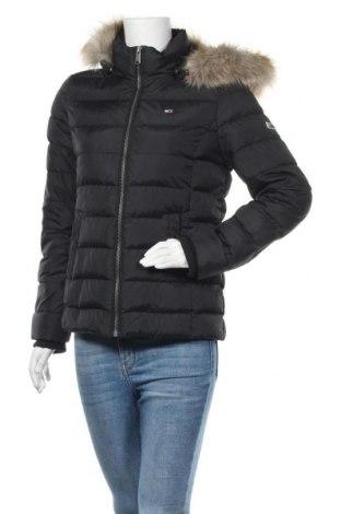 Γυναικείο μπουφάν Tommy Hilfiger, Μέγεθος M, Χρώμα Μαύρο, Πολυεστέρας, φτερά και πούπουλα, Τιμή 215,98€