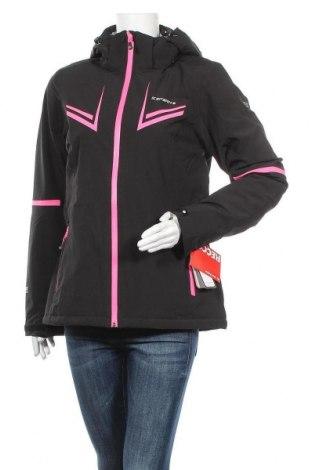 Γυναίκειο μπουφάν για χειμερινά σπορ Icepeak, Μέγεθος M, Χρώμα Μαύρο, 94% πολυεστέρας, 6% ελαστάνη, Τιμή 38,95€
