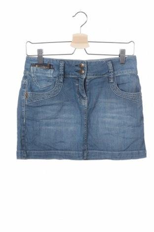 Παιδική φούστα One By One, Μέγεθος 12-13y/ 158-164 εκ., Χρώμα Μπλέ, 98% βαμβάκι, 2% ελαστάνη, Τιμή 3,86€