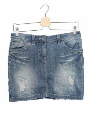 Παιδική φούστα S.Oliver, Μέγεθος 12-13y/ 158-164 εκ., Χρώμα Μπλέ, 69% βαμβάκι, 30% πολυεστέρας, 1% ελαστάνη, Τιμή 4,42€