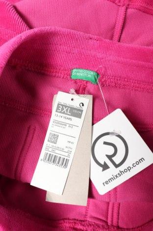 Детска пола United Colors Of Benetton, Размер 13-14y/ 164-168 см, Цвят Розов, 62% памук, 35% полиестер, 3% еластан, Цена 34,50лв.