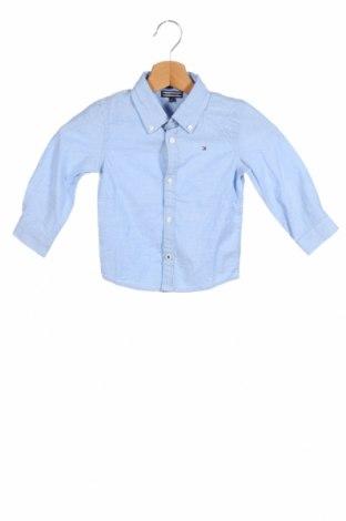 Παιδικό πουκάμισο Tommy Hilfiger, Μέγεθος 18-24m/ 86-98 εκ., Χρώμα Μπλέ, 98% βαμβάκι, 2% ελαστάνη, Τιμή 20,29€