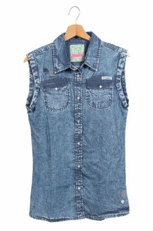 Παιδικό πουκάμισο Vingino, Μέγεθος 15-18y/ 170-176 εκ., Χρώμα Μπλέ, Βαμβάκι, Τιμή 6,95€