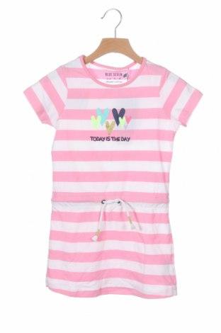 Детска рокля Blue Seven, Размер 4-5y/ 110-116 см, Цвят Розов, 95% памук, 5% еластан, Цена 33,60лв.
