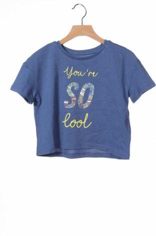 Детска тениска Friboo, Размер 6-7y/ 122-128 см, Цвят Син, Памук, Цена 7,34лв.