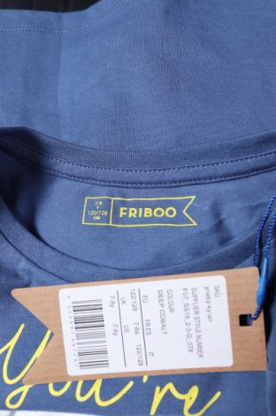 Παιδικό μπλουζάκι Friboo, Μέγεθος 6-7y/ 122-128 εκ., Χρώμα Μπλέ, Βαμβάκι, Τιμή 11,21€