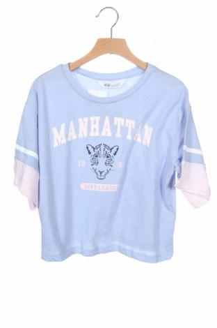 Παιδικό μπλουζάκι H&M, Μέγεθος 10-11y/ 146-152 εκ., Χρώμα Μπλέ, 52% βαμβάκι, 48% πολυεστέρας, Τιμή 12,92€