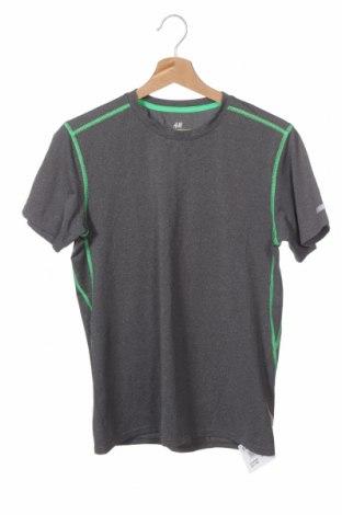 Παιδικό μπλουζάκι H&M Sport, Μέγεθος 12-13y/ 158-164 εκ., Χρώμα Γκρί, 86% πολυεστέρας, 14% ελαστάνη, Τιμή 10,49€