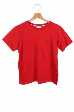 Dětské tričko  Lacoste, Velikost 12-13y/ 158-164 cm, Barva Červená, Bavlna, Cena  362,00Kč
