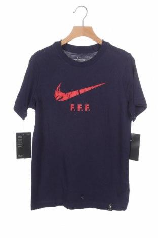 Παιδικό μπλουζάκι Nike, Μέγεθος 8-9y/ 134-140 εκ., Χρώμα Μπλέ, Βαμβάκι, Τιμή 14,65€