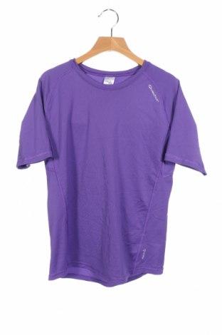 Детска тениска Quechua, Размер 13-14y/ 164-168 см, Цвят Лилав, Полиестер, Цена 4,20лв.