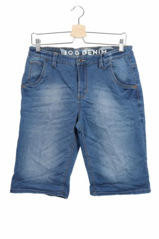 Παιδικό κοντό παντελόνι, Μέγεθος 15-18y/ 170-176 εκ., Χρώμα Μπλέ, 65% βαμβάκι, 34% πολυεστέρας, 1% ελαστάνη, Τιμή 13,64€