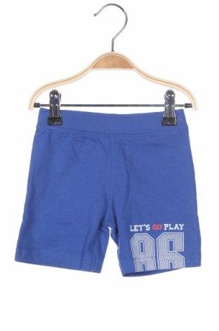 Детски къс панталон Blue Seven, Размер 6-9m/ 68-74 см, Цвят Син, 100% памук, Цена 23,80лв.