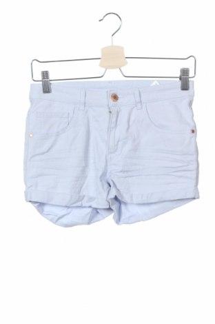 Детски къс панталон H&M, Размер 14-15y/ 168-170 см, Цвят Син, 98% памук, 2% еластан, Цена 16,75лв.