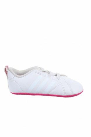 Παιδικά παπούτσια Adidas, Μέγεθος 20, Χρώμα Λευκό, Δερματίνη, Τιμή 33,23€